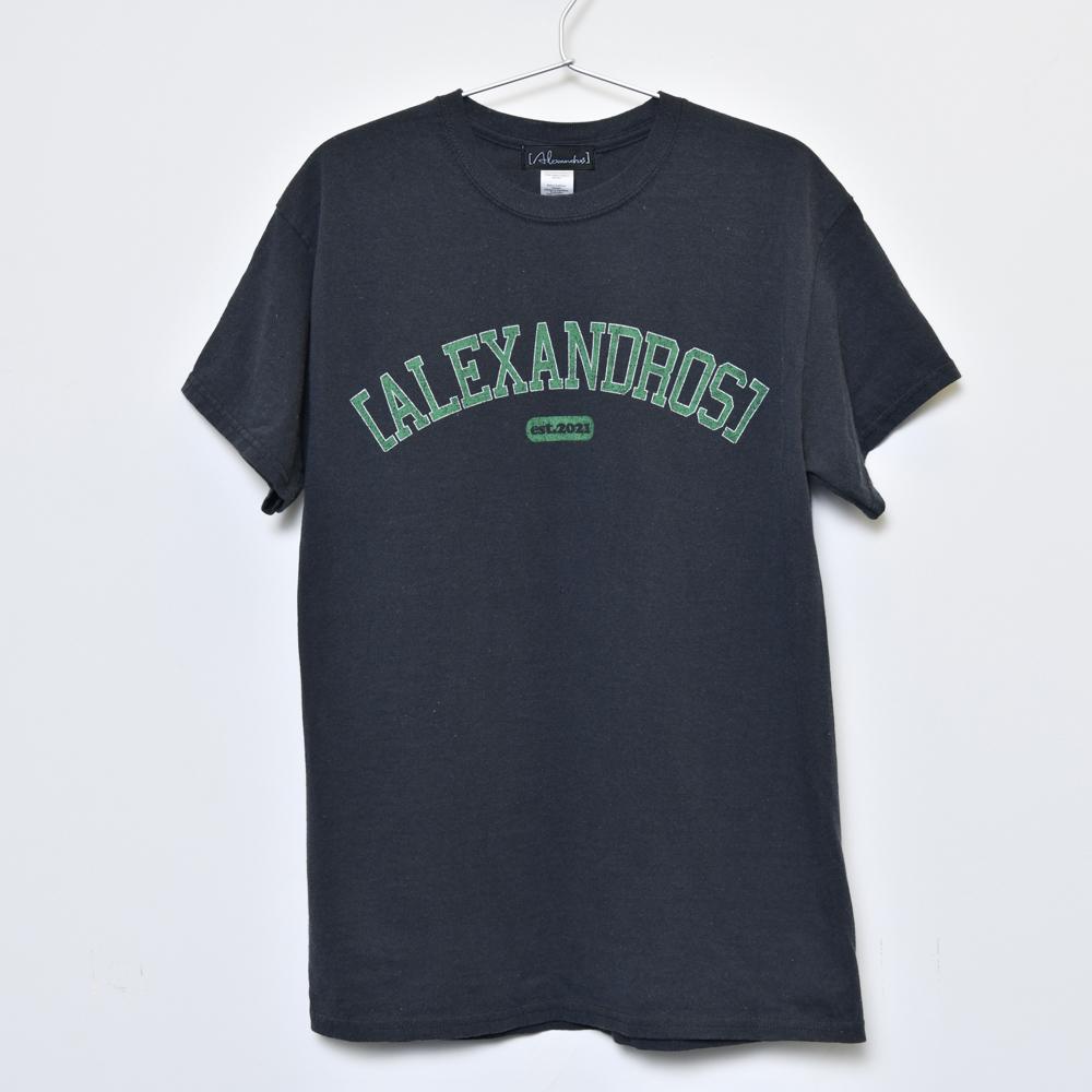 Vintage Style T-Shirt(Black×Green)
