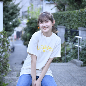 Vintage Style T-Shirt(Natural×Yellow)