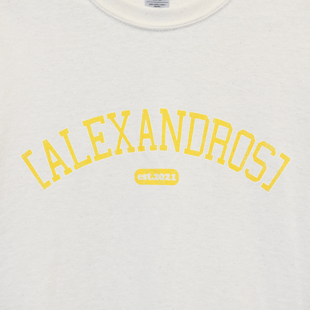 【NEW】Vintage Style T-Shirt(Natural×Yellow)