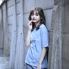 【NEW】Logo Oversized T-Shirt(Acid Blue)