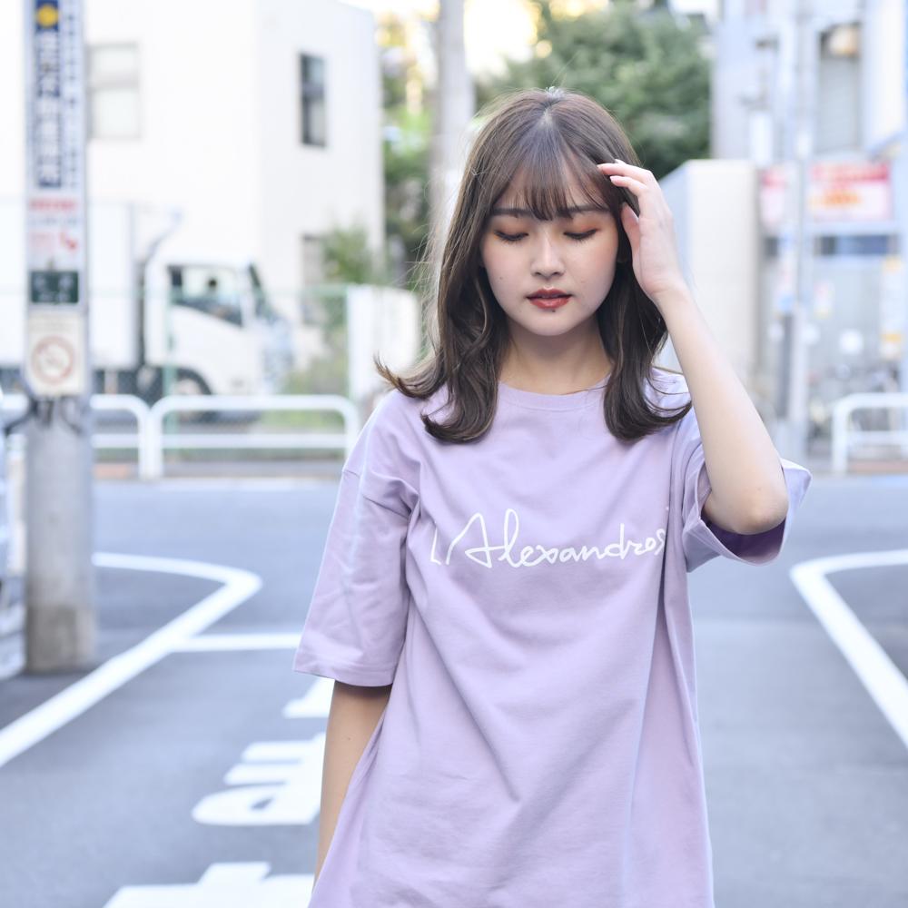 【NEW】Logo Oversized T-Shirt(Smokey Purple)