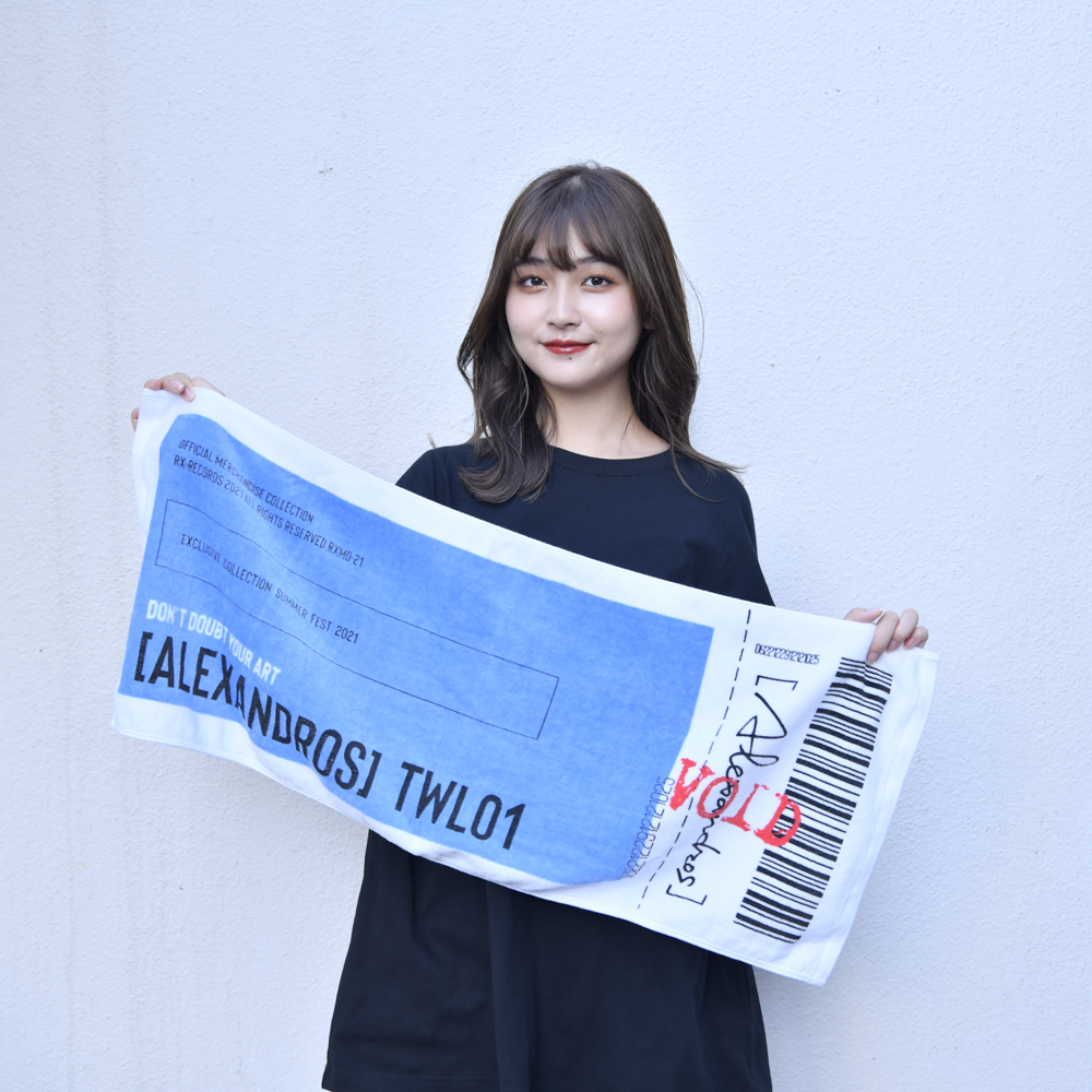 【NEW】Ticket Face Towel(Blue)