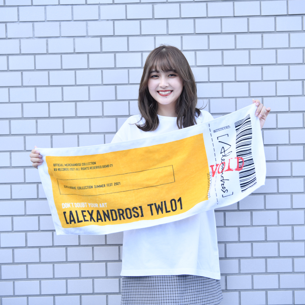 Ticket Face Towel(Yellow)