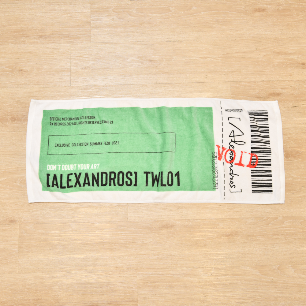 【NEW】Ticket Face Towel(Green)