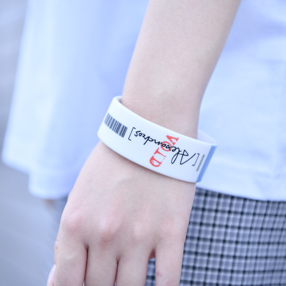 【NEW】Ticket Rubber Wrist Band(Blue)
