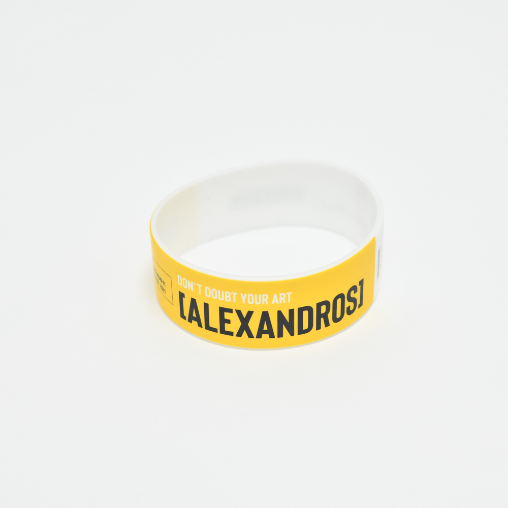 【NEW】Ticket Rubber Wrist Band(Yellow)