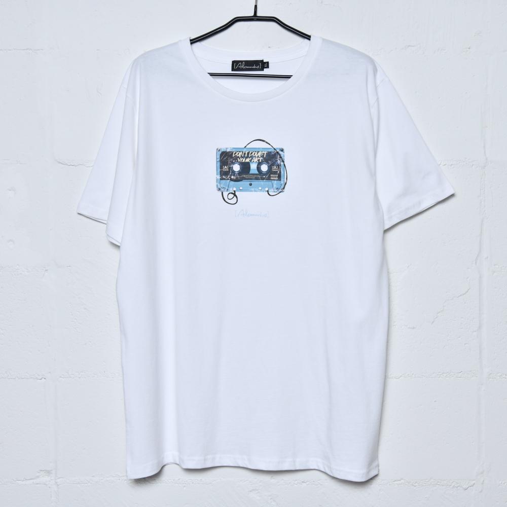 【NEW】Cassette Tape Tee(White)