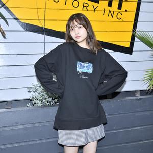 【NEW】Cassette Tape Sweatshirt(Black)