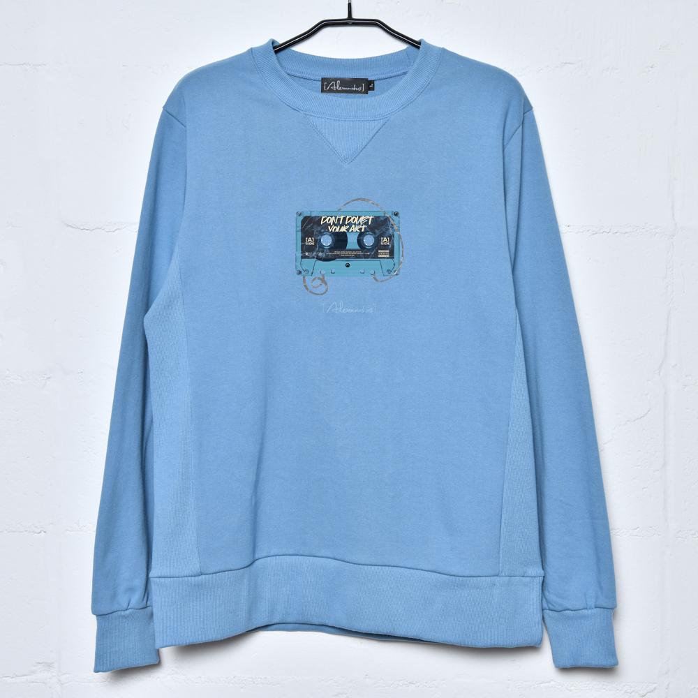 【NEW】Cassette Tape Sweatshirt(Blue)