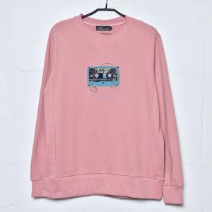 【NEW】Cassette Tape Sweatshirt(Pink)