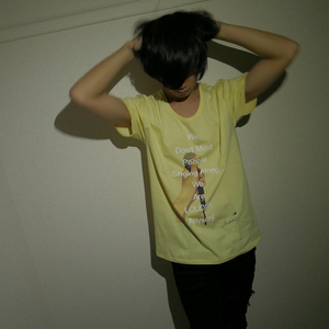 YOOHEI MICROPHONE PHOTO TEE (YELLOW)