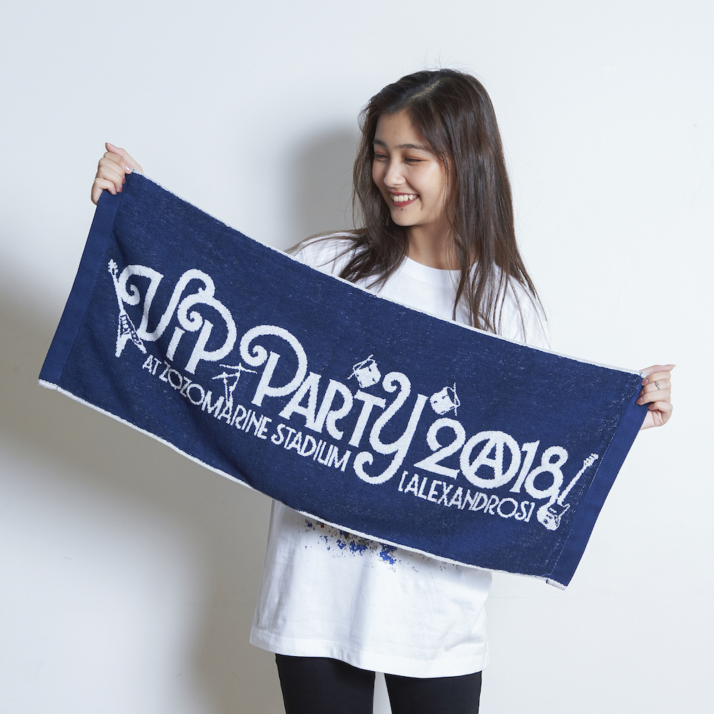 【VIP NEW】VIP PARTY 2018 LOGO JACQUARD FACE TOWEL (NAVY)