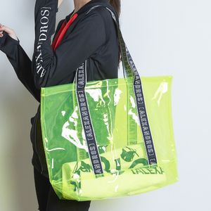 LOGO TAPE VINYL TOTE BAG (Yellow)