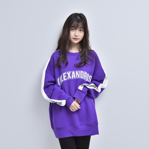 CREW NECK LINE SWEATSHIRT (PURPLE)