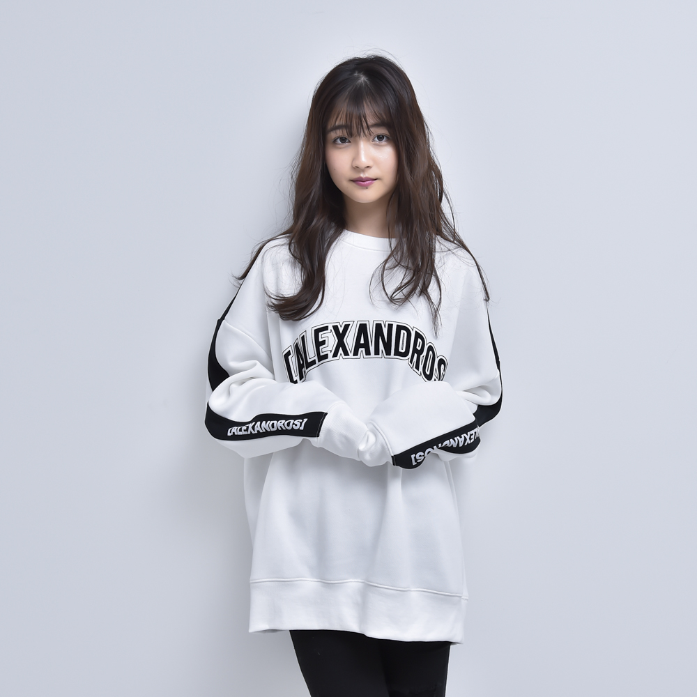 【NEW】CREW NECK LINE SWEATSHIRT (WHITE)