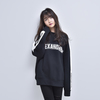 CREW NECK LINE SWEATSHIRT (BLACK)