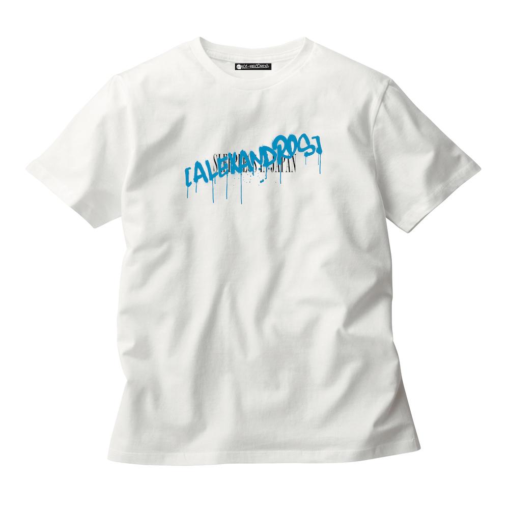 GRAFFITI LOGO TEE (WHITE/TURKISH BLUE)(Sleepless in Japan Arena Tour限定)