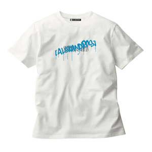 GRAFFITI LOGO TEE (WHITE/TURKISH BLUE)(Sleepless in Japan Arena Tour限定)