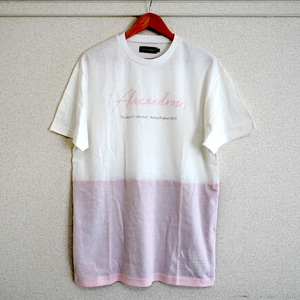 BI-COLOR TEE (PINK BEIGE/NAVY)