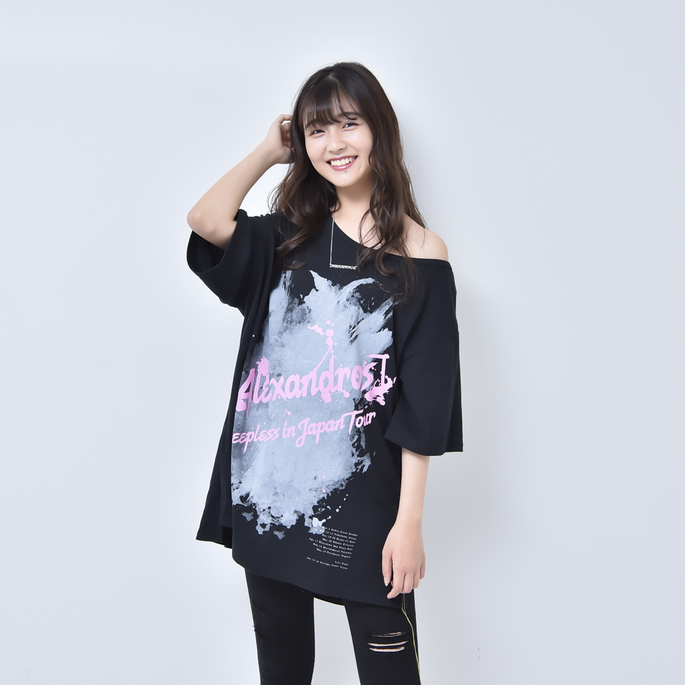 【NEW】ASYMMETRY SLIT TEE (BLACK)(Sleepless in Japan Arena Tour FINAL限定)