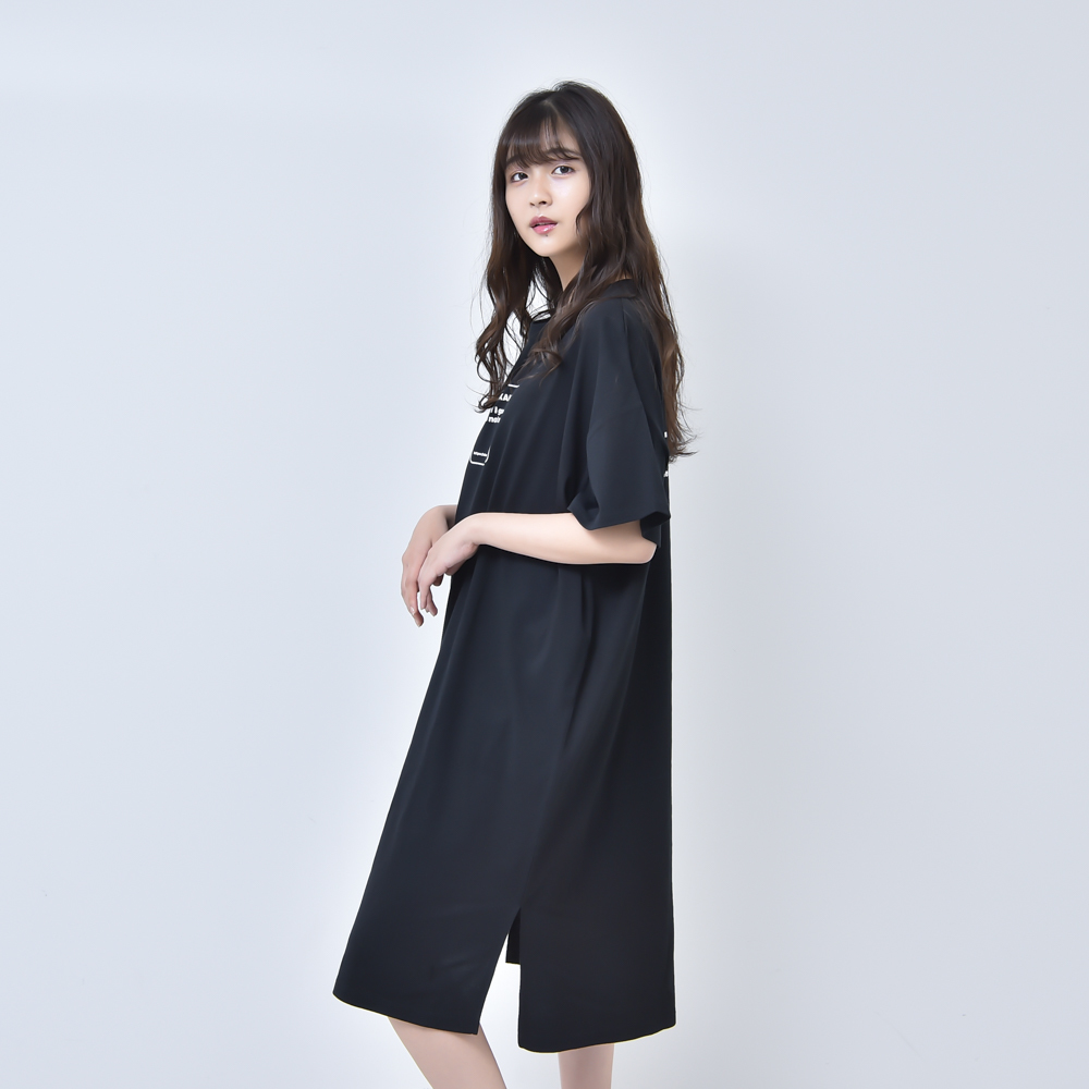 【NEW】TEE DRESS (BLACK)