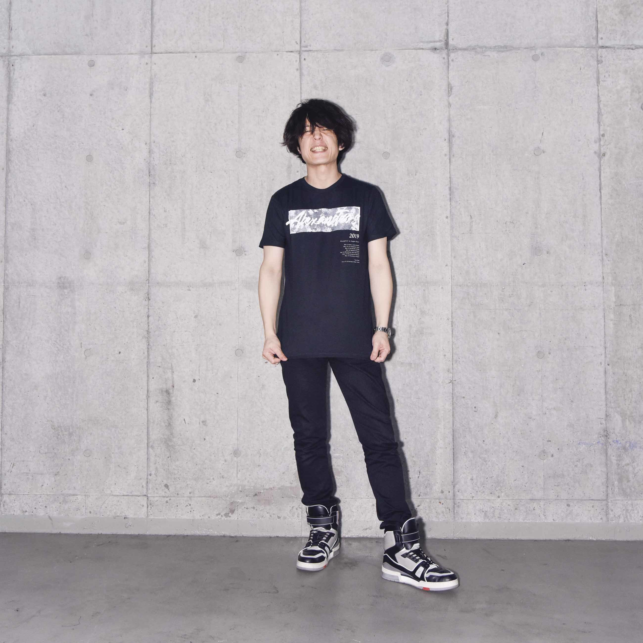 SPLIT INK LOGO TEE (BLACK)(Sleepless in Japan Arena Tour限定)