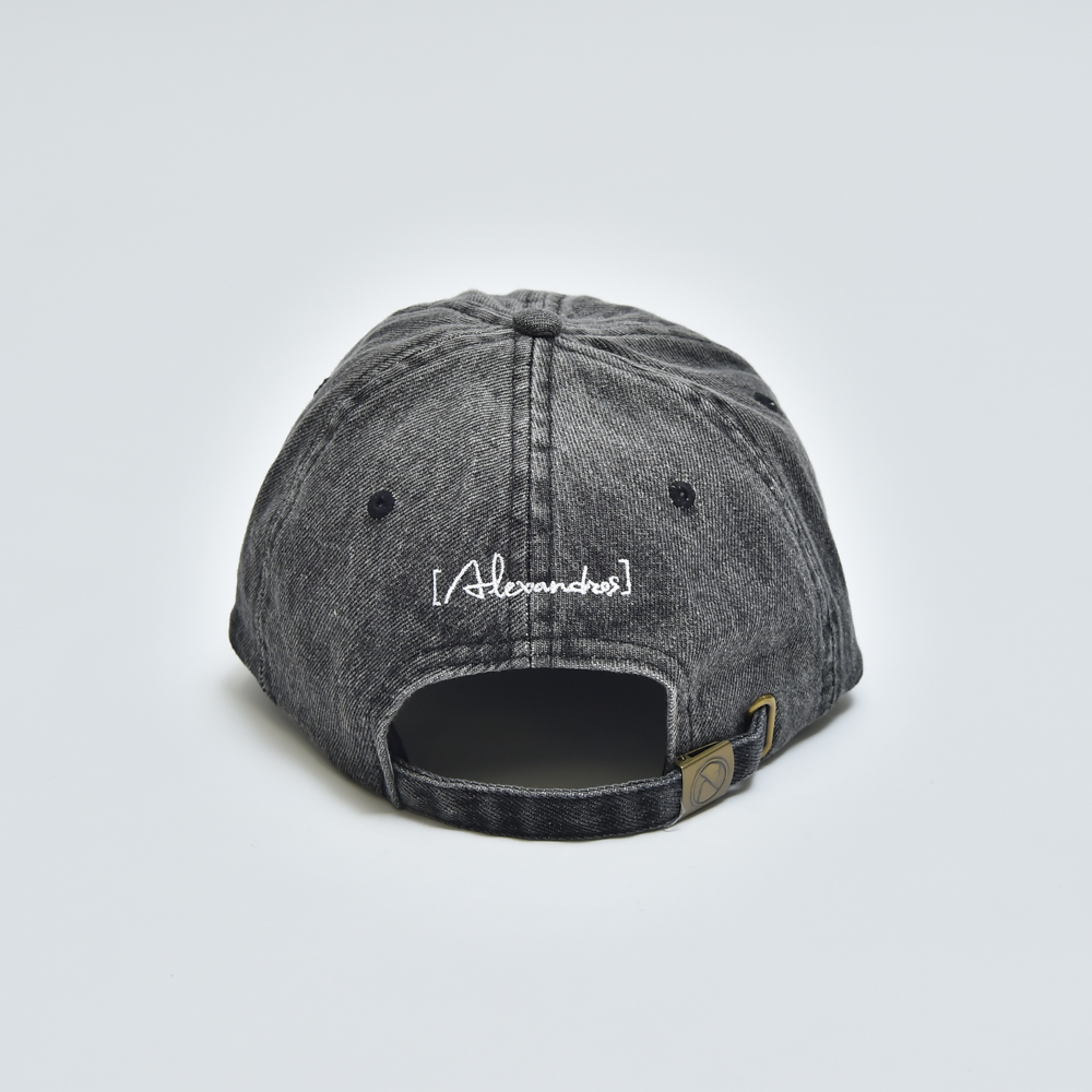 【NEW】DENIM CAP (LIGHT BLACK)