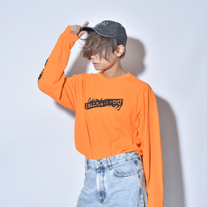 LONG SLEEVE TEE(ORANGE)