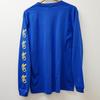 DROS LOGO LONG SLEEVE TEE(BLUE)