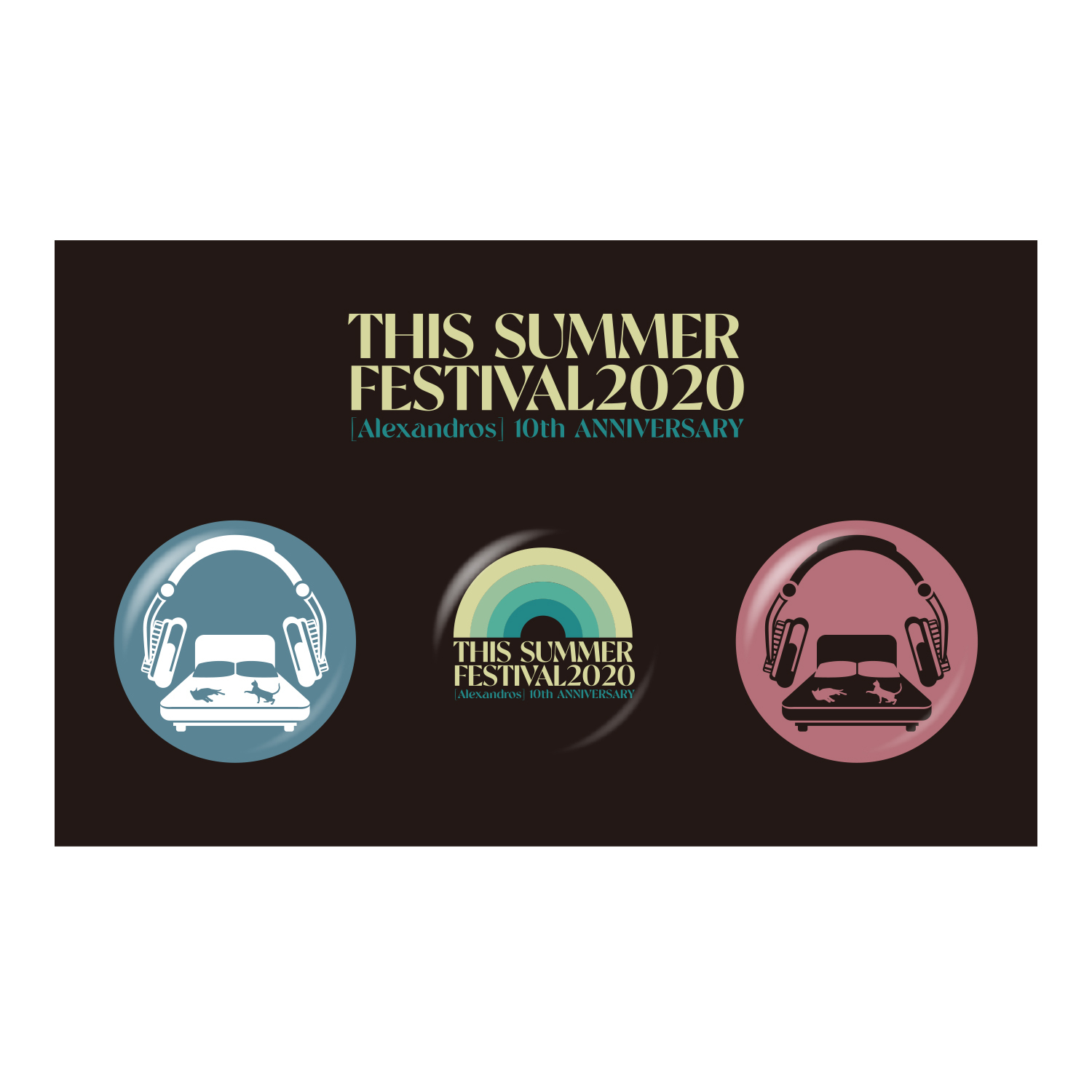 THIS SUMMER FESTIVAL 2020 BADGE SET