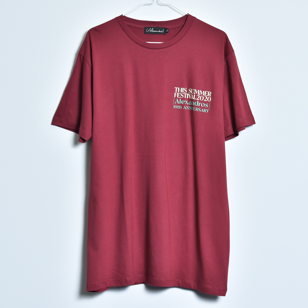 THIS SUMMER FESTIVAL 2020 TEE(BURGUNDY)