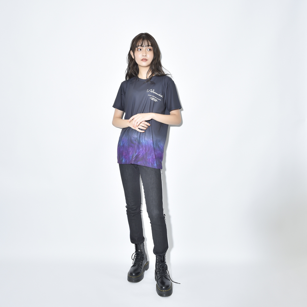【NEW】FEATHER GRADATION TEE(BLACK)