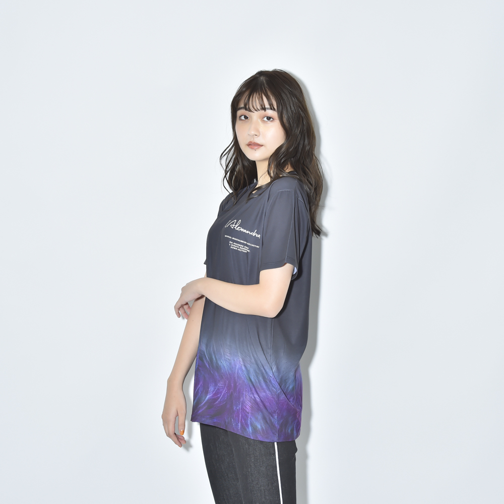 FEATHER GRADATION TEE(BLACK)