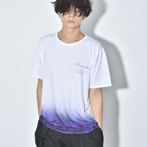 【NEW】FEATHER GRADATION TEE(WHITE)