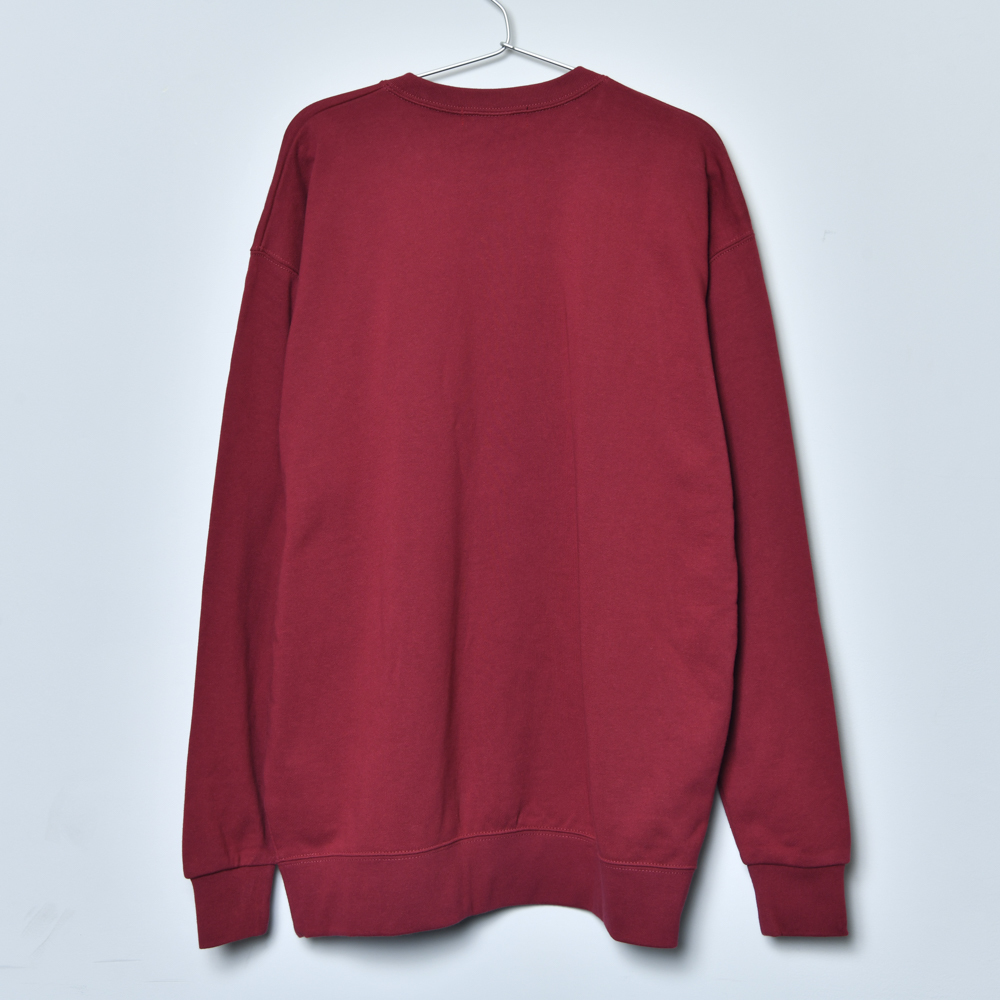 Patch Sweat Shirt (Burgundy)