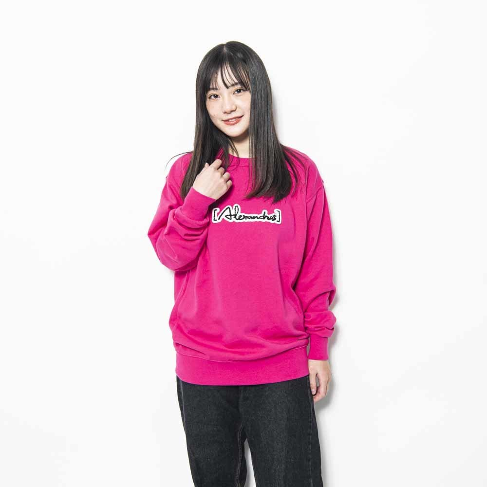 Patch Sweat Shirt (flamingo_pink)