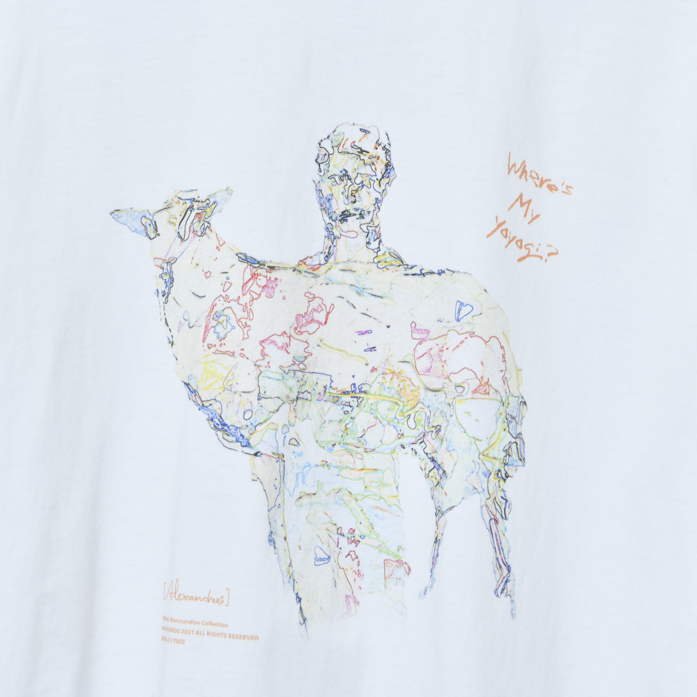 【NEW】Where's My Yoyogi? TEE (スケルトン・白)