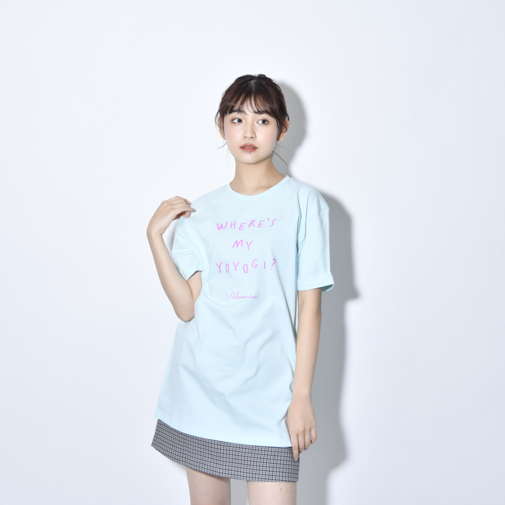 【NEW】Where's My Yoyogi? LOGO TEE (Light Blue)
