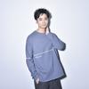 【NEW】Raglansleeve Reverse Long Tee (Blue)