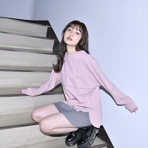 【NEW】Raglansleeve Reverse Long Tee (Pink)