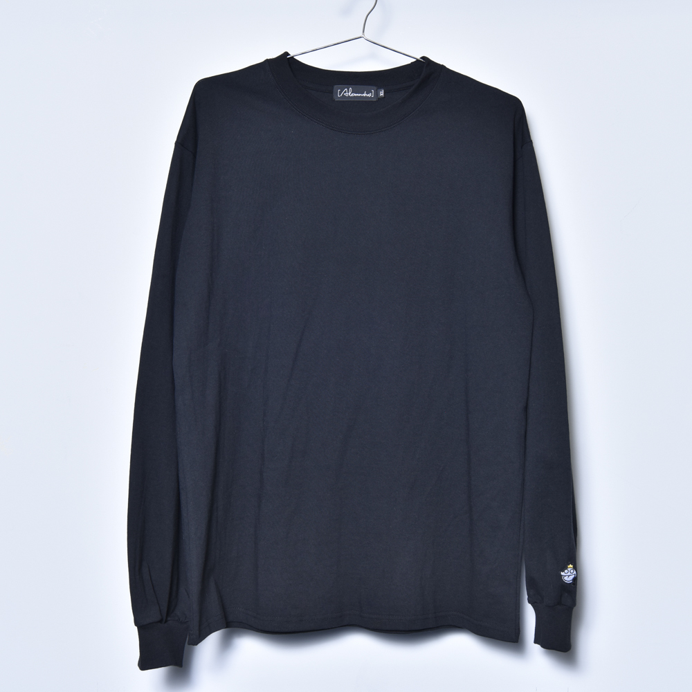 【NEW】Dros-kun Patch LongSleeve Tee (Black)