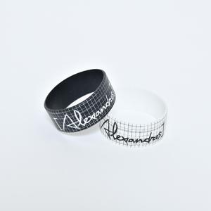 【NEW】Sketch Logo Rubber Wristband(Black/White)