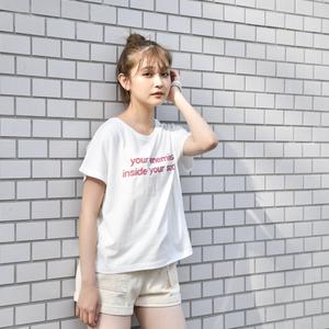 【NEW】Glitch Logo Ladies Tee(White)