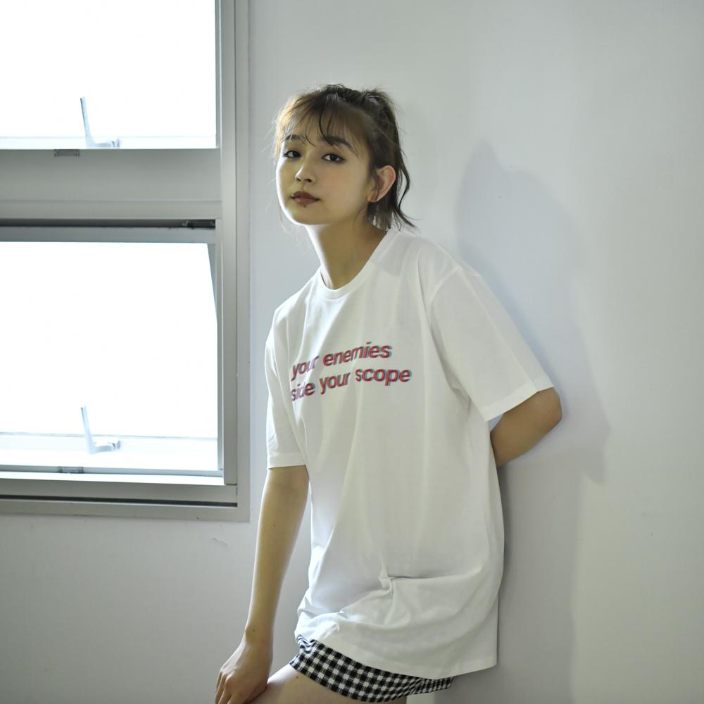 【NEW】Glitch Logo Tee(White)